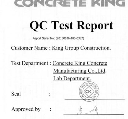 QC Test Report